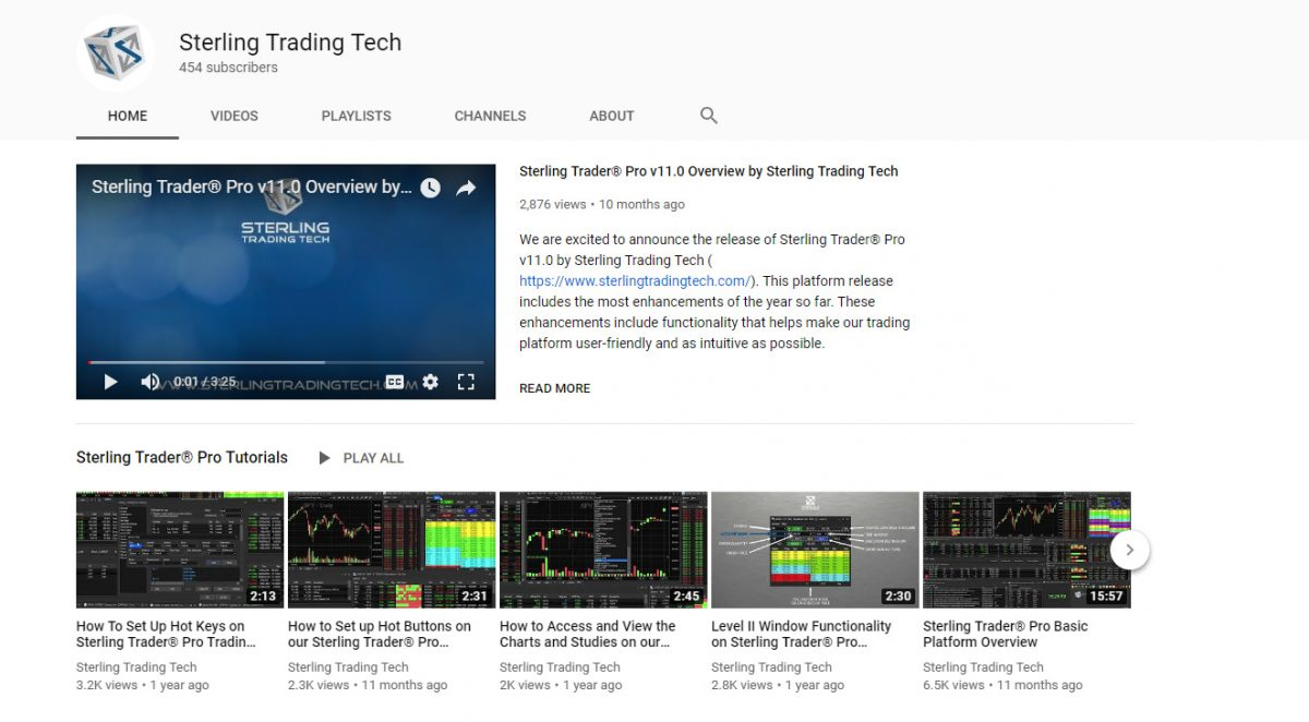 Sterling Video Tutorials on YouTube